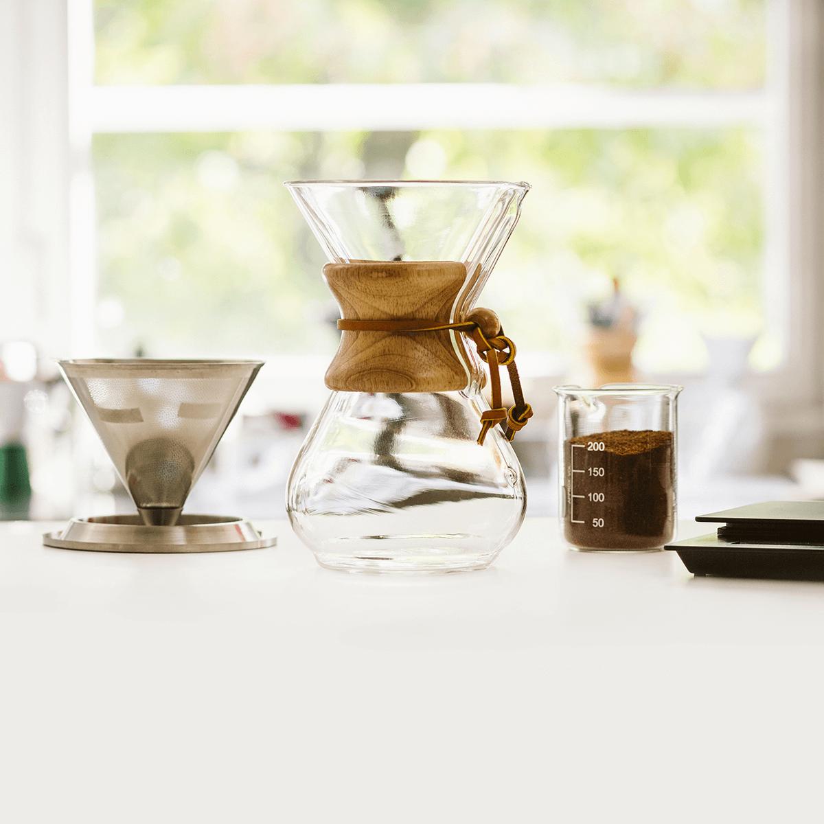 CHEMEX incollato FILTRI QUADRATI naturale 100 pezzi speciali PERFECT tazze da caffè