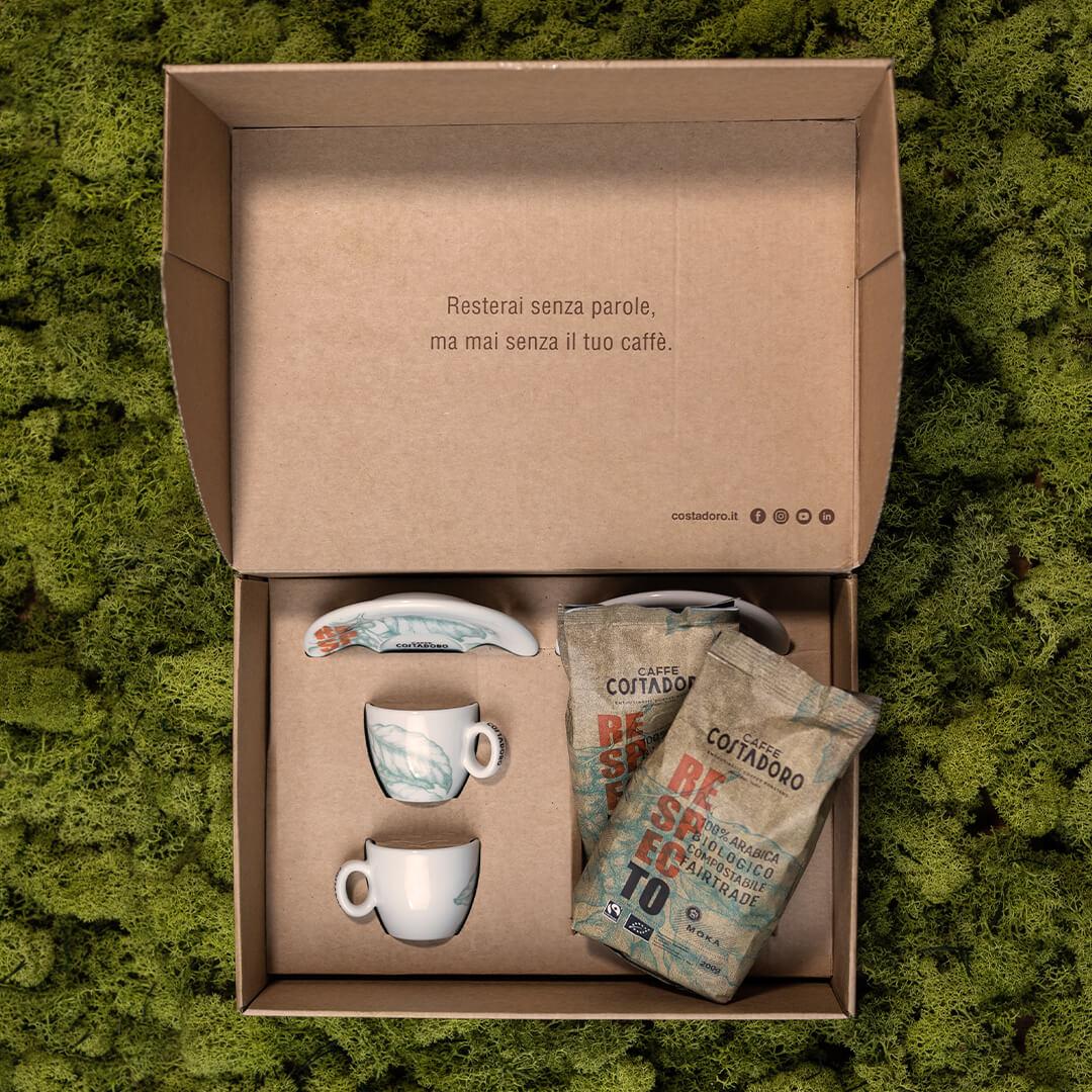 Green box per Due – Costadoro RespecTo + 2 tazzine