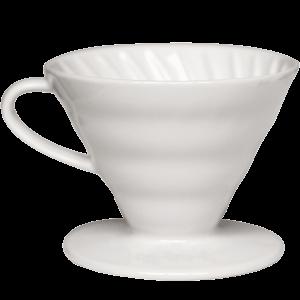 Hario V60 Dripper in ceramica bianco