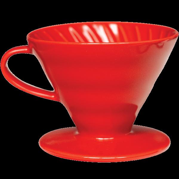 Hario V60 Dripper in ceramica rosso