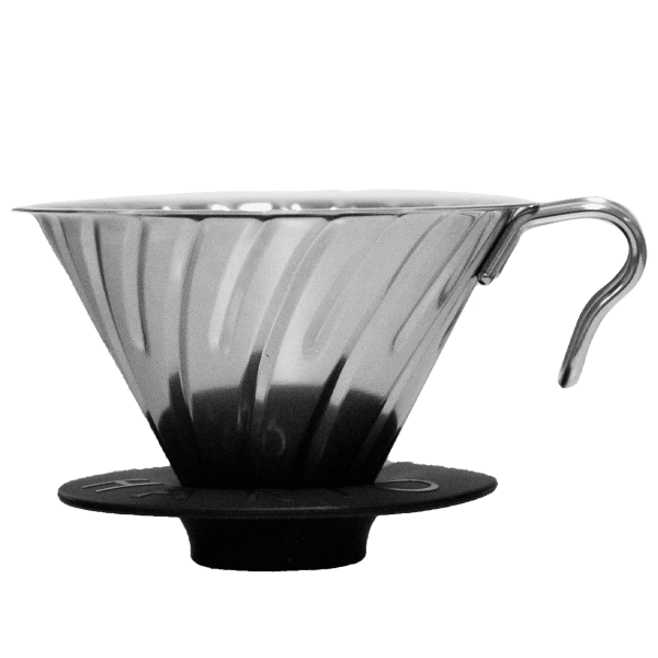 Hario Coffee Dripper V60 metal silver