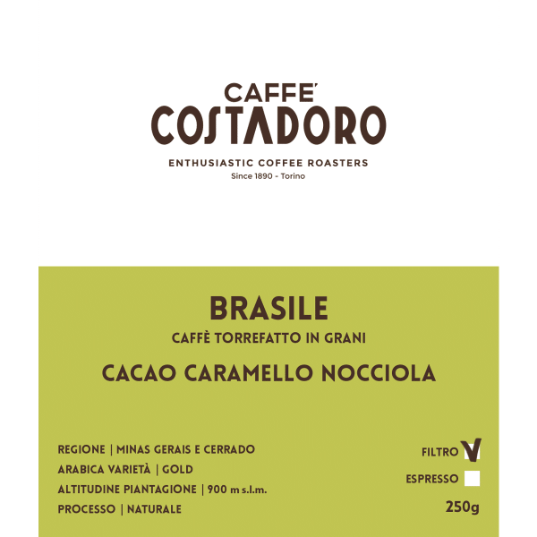 Monorigine Brasile in grani per Filtro 250g