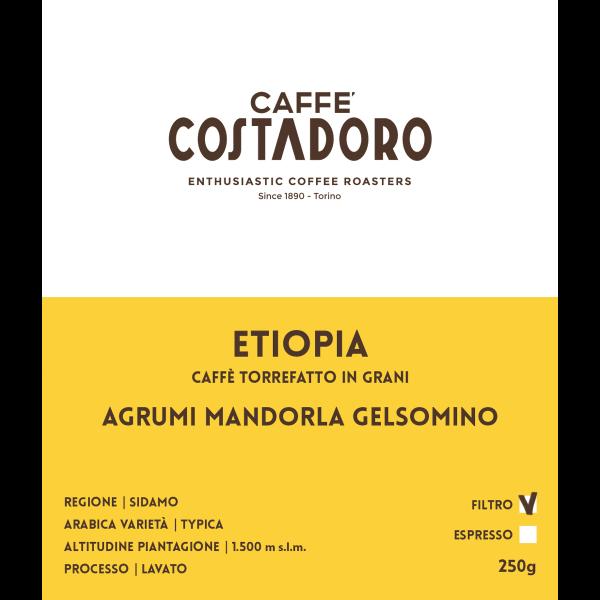 Monorigine Etiopia in grani per Filtro 250g