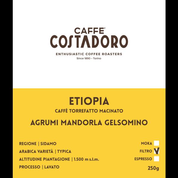 Monorigine Etiopia macinato Filtro 250g etichetta