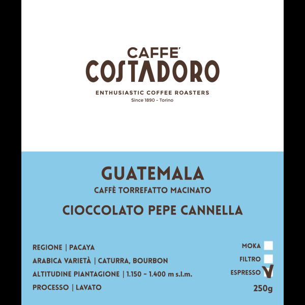 Monorigine Guatemala macinato Espresso 250g etichetta