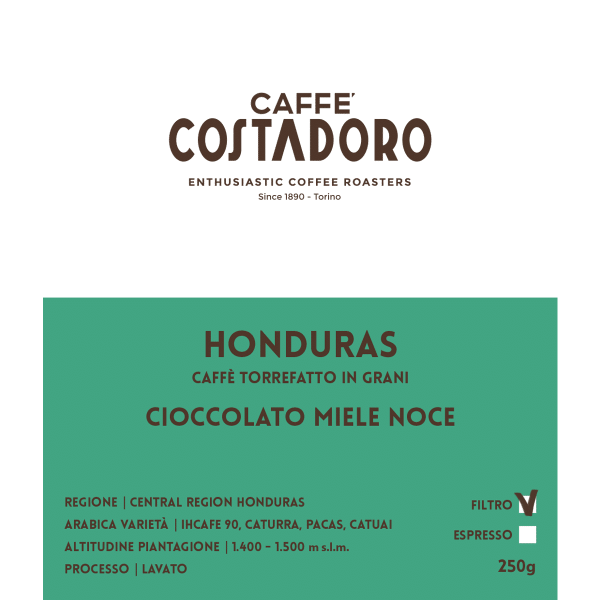 Monorigine Honduras in grani per Filtro 250g
