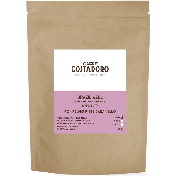 Specialty Coffee Brazil Azul macinato Moka 250g