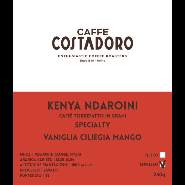 Kenya Ndaroini Specialty in grani per Espresso 250g