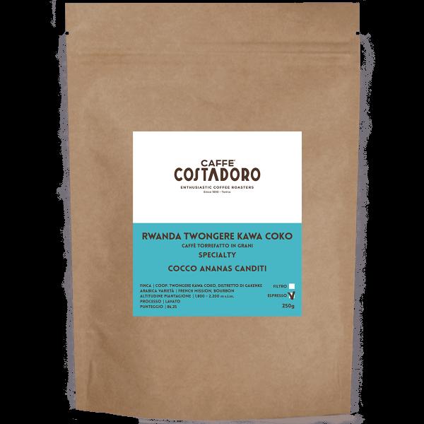 Rwanda Twongere Kawa Coko in grani per Espresso 250g