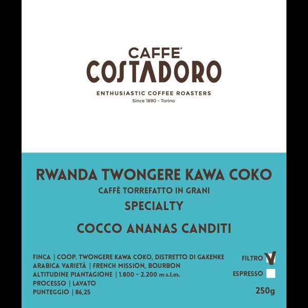 Rwanda Twongere Kawa Coko in grani per Filtro 250g