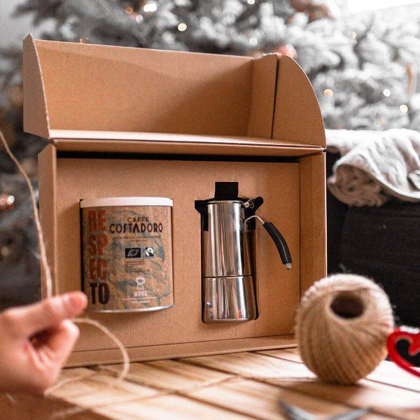 kit buongiorno caffè lattina respecto moka