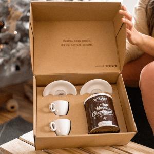 kit caffè per due lattina christmas e tazzine