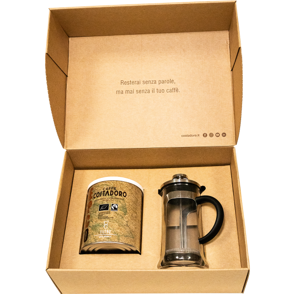 kit pausa caffè lattina respecto french press